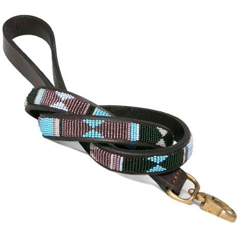 Handmade Leashes - collection jacaranda beaded leash