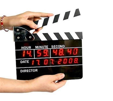 directors clapboard digital alarm clock