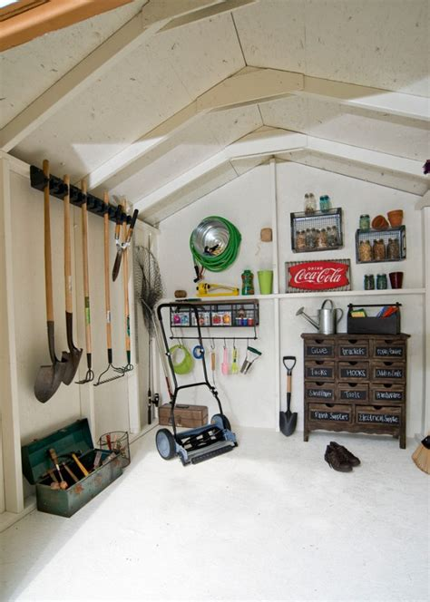 Shed Interiors And Storage Ideas by Weekend Designer And Easy Ways To Pretty Up That