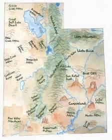 landform map landforms in utah map