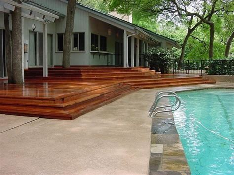 beautiful decks beautiful merbu terraced deck to swimming photo leisure
