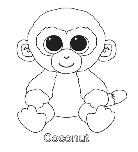 free coloring pages of aty beanie boos