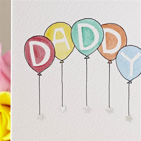 Handmade Balloons - personalised handmade birthday balloons card by