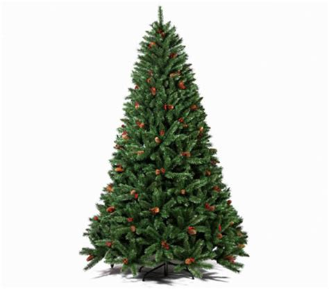 180cm artificial christmas tree with pine cones and