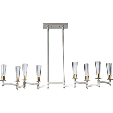 Island Chandelier Feiss Celebration 8 Light Brushed Nickel Brass Billiard Island Chandelier Shade F2815