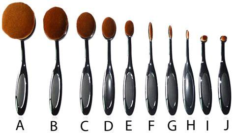 Oval Blending Brush Set 10 Free Dompet 10 black oval brush set my make up brush set us