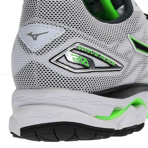 mizuno wave rider 20 s running shoes white black