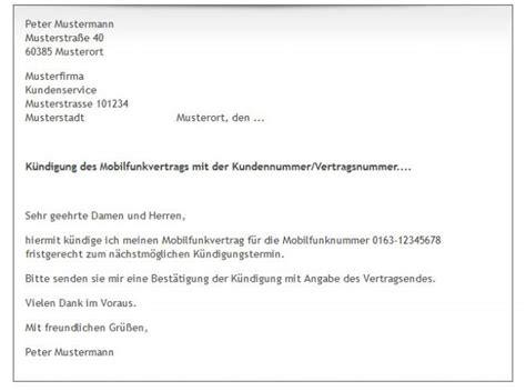 Handyvertrag Kündigen Blau De Vorlage K 252 Ndigung Handyvertrag Vorlage Freeware De
