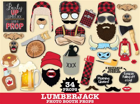 free printable lumberjack photo booth props lumberjack photo booth props lumberjack jill woodland