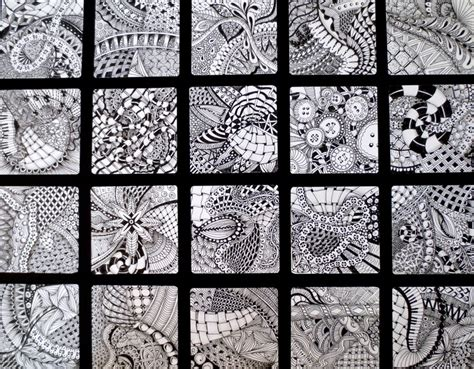 zentangle pattern squares my first zentangle squares my own art pinterest