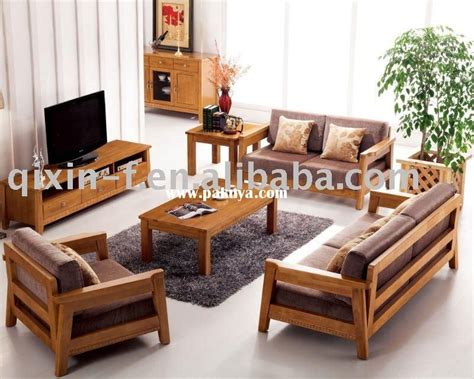 Living Room Wooden Chairs - wooden living room sofa f001 2 living room furniture