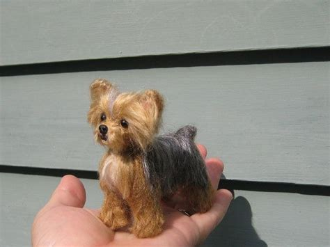 needle felted yorkie 17 best images about needle felted yorkies on animal sculptures miniature