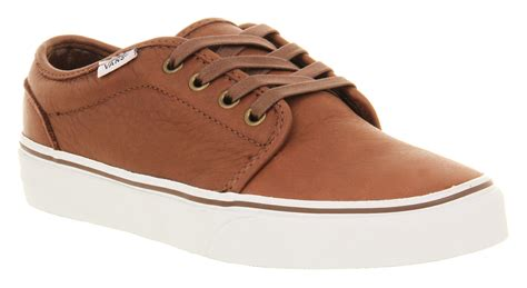 vans 106 vulcanized dk brown vans 106 vulcanized leather rust brown smu trainers shoes