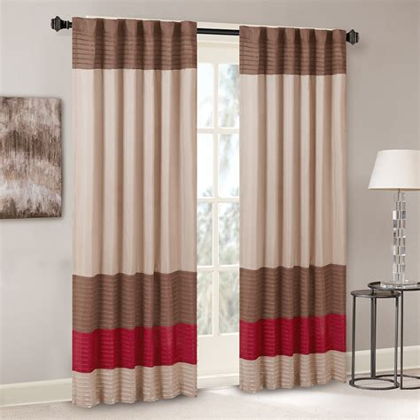 pintuck drapes madison park tradewinds polyoni pintuck window curtain ebay