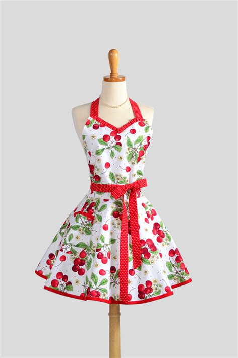 sweetheart retro apron sexy flirty womens apron by