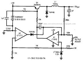 simple low power switching regulator circuit diagram electronic circuit diagrams schematics