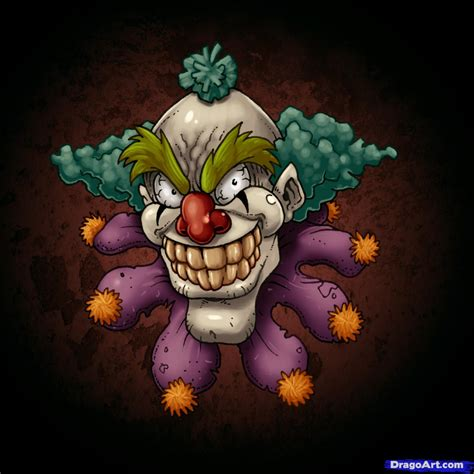 the gallery for gt evil clown tattoos drawings how to draw scary clowns