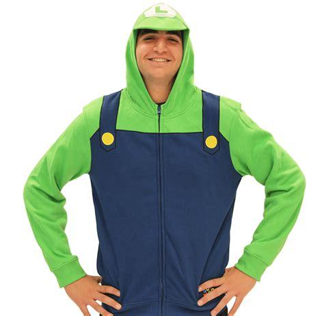 Hoodie Zipper Mario Logo Zemba Clothing nintendo mario link costume hoodies comfy technabob