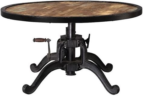 industrial adjustable height table eclectic dining industrial adjustable height coffee table natural