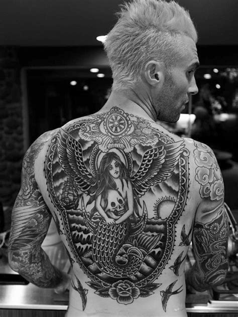 adam levine back tattoo popular judge on the voice reveals on his