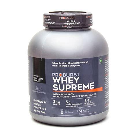 supreme whey protein proburst whey supreme nutrabay