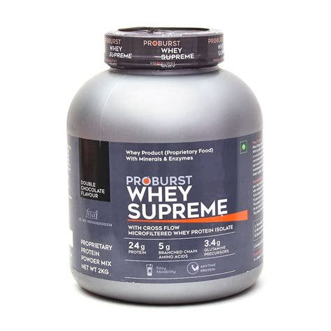 supreme whey protein proburst whey supreme at best price nutrabay