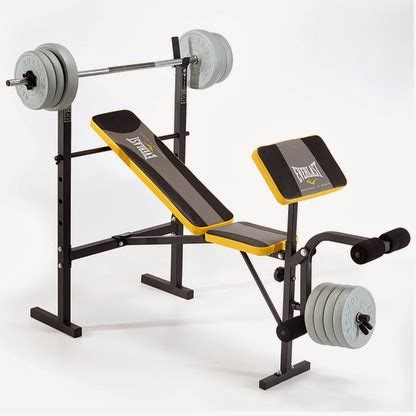 weight benches with weights included pure fitness and sports new everlast weight benches