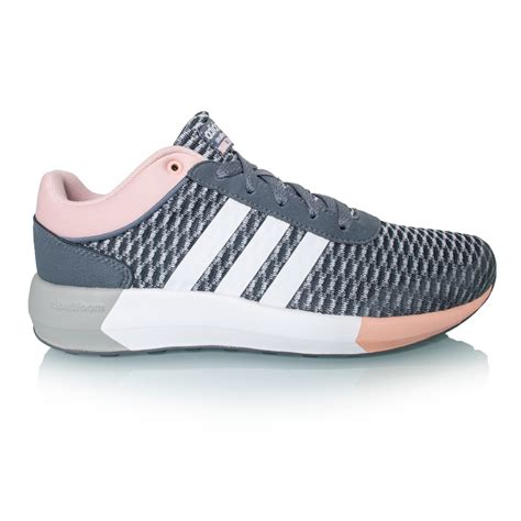 adidas cloudfoam adidas cloudfoam race womens running shoes onyx white