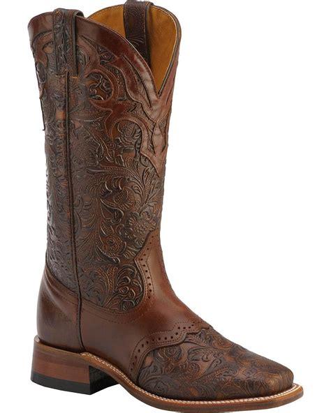 boulet s tooled ranger boot square toe