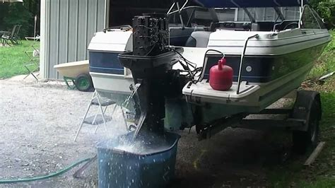 mercury boat motor not getting gas decarbonizing with seafoam 1987 force 125 outboard youtube