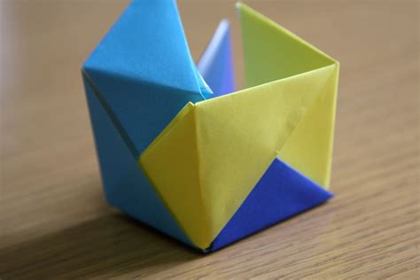 tutorial origami cube origami cube tutorial origami mommy