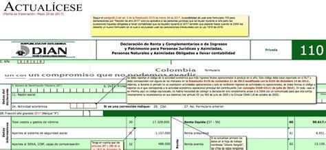110 declaracion renta 2016 oro formularios 110 y 240 con anexos para declaraci 243 n de