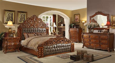 Victorian Style Bedrooms ornate wooden bed set