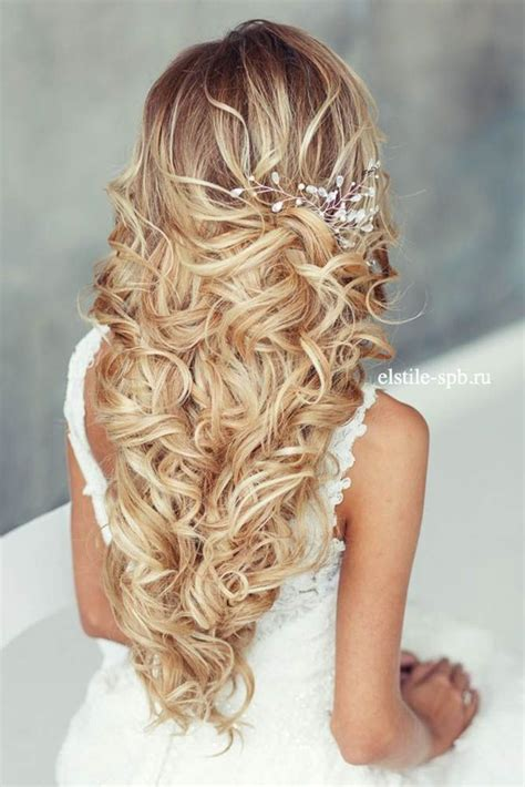 bridal hairstyles curly updos wedding summer spring 45 most romantic wedding hairstyles for long hair summer