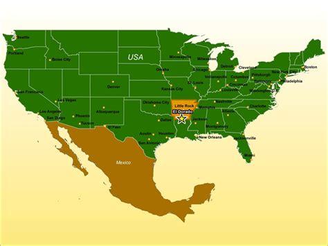 regional map  el dorado arkansas