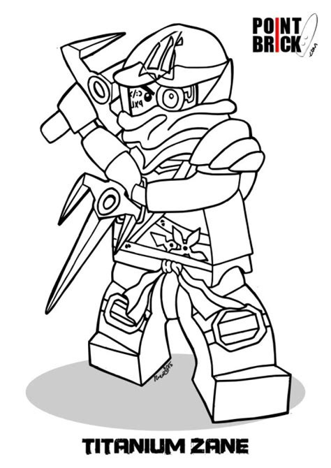 zane lego ninjago free coloring pages