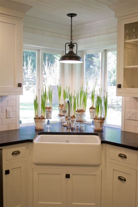 Sink Lighting Kitchen Kitchen Sink Window With Light Fixture Plants Farmhouse Style Sink Kitchens