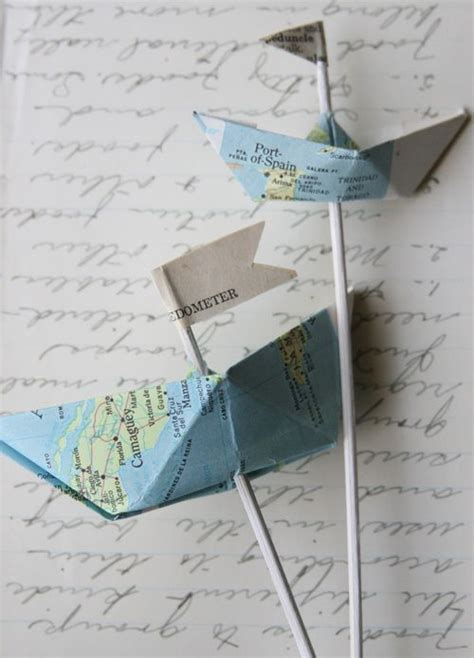 origami love boat tutorial how to fold nautical paper boats love this