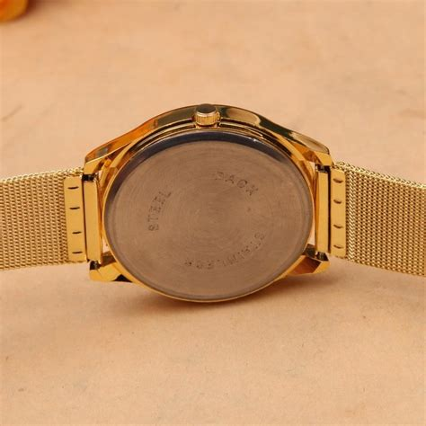 Jam Tangan Pria Geneva Fashion Quartz Analog Stainless Steel geneva jam tangan analog yq001gd golden