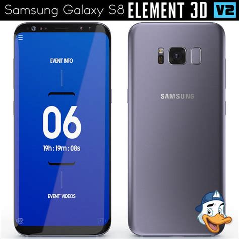 Element Samsung S8 samsung galaxy s8 for element 3d cgtrader