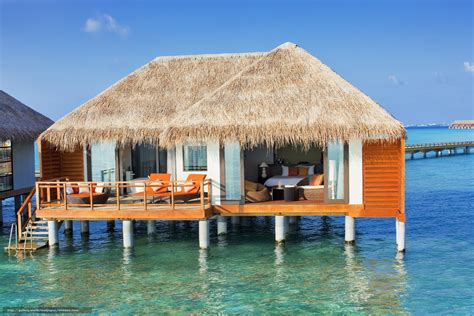 maldive bungalow wallpaper maldives tropics bungalow free