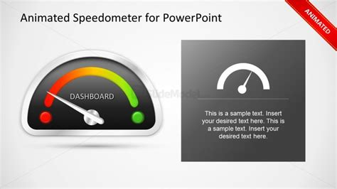 Animated Gauge Template for PowerPoint Dashboard   SlideModel