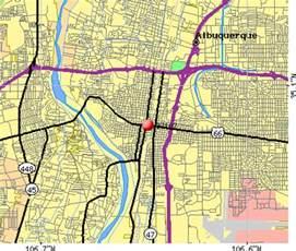 Albuquerque Zip Code Map by Albuquerque Metro Area Zip Codes