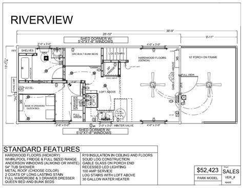 Breckenridge Park Model Floor Plans by Park Model Home Floor Plans