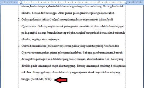 cara membuat daftar pustaka di word secara otomatis cara membuat daftar pustaka otomatis di word 2007 2010