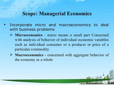 Managerial Economics Mba Explained by Managerial Economics Ppt Baba Mba 2009