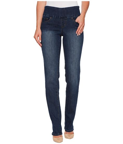 comfortable womens jeans jag jeans peri pull on straight in anchor blue at zappos com