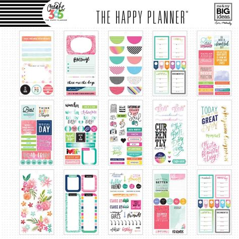 Happy Planner Memory Keeping Stickers create 365 the happy planner sticker value pack memory