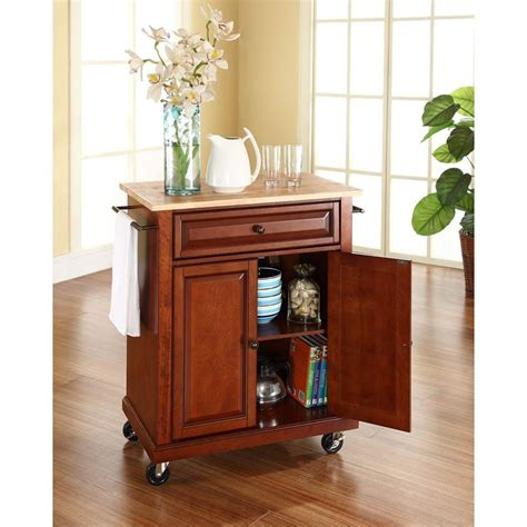 cherry kitchen island cart crosley cherry kitchen cart with wood top