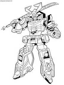 free coloring pages of power ranger megazord